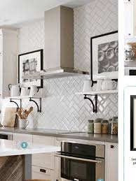 amazing beveled subway tile backsplash herringbone 14 beveled