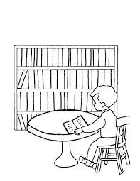 Library Be Quiet Please Coloring Pages