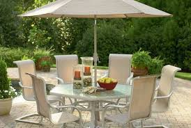 Garden Treasures Patio Furniture Manufacturer by Furniture Patio Dining Set With Umbrella Garden Oasis Patio