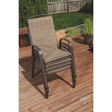 Stack Sling Patio Chair Tan by Outdoor Expressions Greenville Stackable Chair Tjf T014 Do It Best
