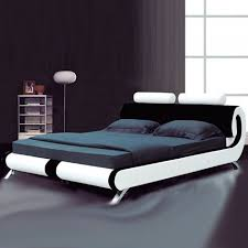Paris Modern Italian Designer Leather Bed Luxury Leather Beds