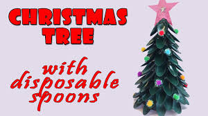 Saran Wrap Christmas Tree With Ornaments by Christmas Tree With Disposable Spoons Christmas Crafts Ideas