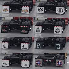 New HD And Standalone Mudflaps Pack (49 Units) • ATS Mods | American ... Hd Mudflaps Pack For Ats V12 By Aradeth Mod American Truck Mud Flaps Rblokz Hdware Pdm Nylon 1 Offset Old License Plate Stock Photos Flaps Back Off Simulator Anyone Getting Splash Guards Or Mudflaps Ram Rebel Forum Sold Vintage 70s New In Package Demon Dirty Mean Nasty Mud Mudflapsadjustable And Suv Flapsmud