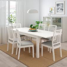laneberg ekedalen tisch und 4 stühle weiß weiß hellgrau 130 190x80 cm