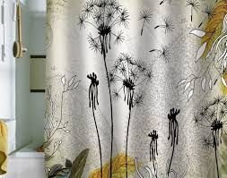Black And White Flower Shower Curtain by Shower Awesome Shower Curtains Black Bathroom Beautiful Shower