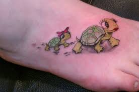 Nice Turtle Tattoos On Foot