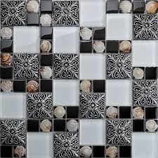 glass shell mosaic tile fashion vintage wall stickers puzzle