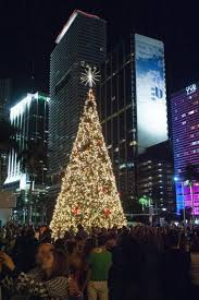 Hundreds Of People Turned Out For The Annual Christmas Tree Lighting At Bayfront Park In Downtown Miami Friday Nov 27 2015 Free Event Was Open To