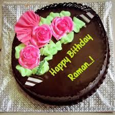 Beautiful Birthday Cake Pic With Name Raman Chocolate Birthday Cake For Raman