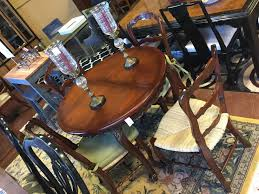 Cherry Wood Country French Dining Table 4 Chair Set