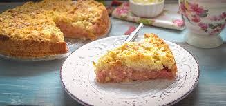 rhabarberkuchen mit streusel und schmand kochen aus liebe