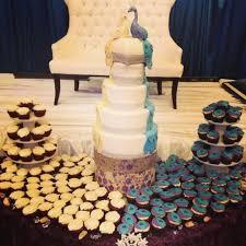 Peacock wedding cake cake by Raindrops CakesDecor