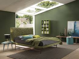 zingy lime green wall teamed with cool exposed brick wallpaper and