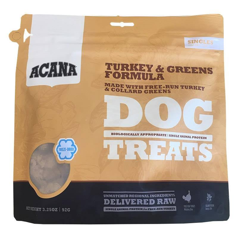 ACANA Turkey & Greens Freeze Dried Dog Treats 3.25oz