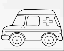 Terrific Ambulance Coloring Pages Printable With Transportation And Land