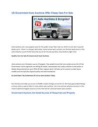 How Does A Government Car Auction Work By Duane Hinman - Issuu