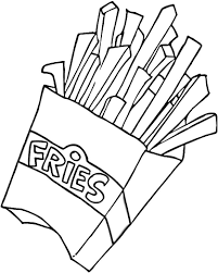 to see printable version of French Fries Coloring page