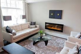 Living Room With Electric Fireplace And Tv Dimplex Synergy 50 In