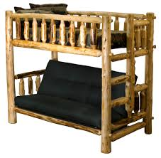 Bunk Bed Over Futon by Timberline Log Bunk Beds Timberline Twin Full Futon Bunk Bed