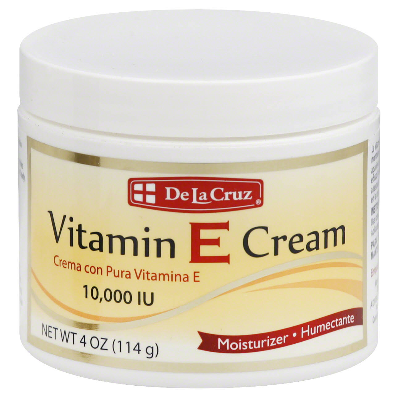De La Cruz Vitamin E Cream Moisturizer - 4oz