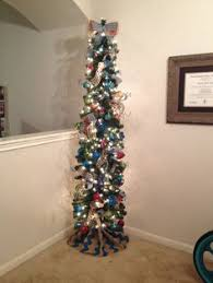 My Christmas Pencil Tree Decorated In Red Green And Blue Penciltree Chevron