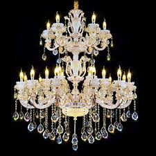 European Style Chandeliers Luxury Led Crystal Chandelier For Sale Accessories Large Pendants