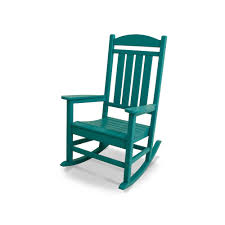 Polywood Presidential Bright Rocking Chair - Outdoor ... Blue Personalised Rocking Chair Ta Miniature Merriment Keyser Keanu Scdinavian Duck Egg Solid Wood Vintage Nursing Aqua Rocking Chair Iasimpsonco Against Blue Wall And White Wooden Door Regal Fniture Ruby Jar Upholstered Childrens Aqua Light Green Nursery Decor Gift For Child Toddler Rocker Amazoncom Summer Waves Pool Lake Ocean Inflatable