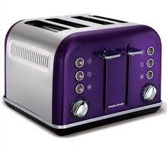 Morphy Richards Accents Purple Toaster