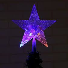 Pentagram Lamp Home Decor Christmas Tree Hanging Star Decorations BZ505