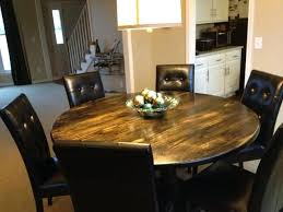 Round Rustic Kitchen Table Image Of Tables Solid Wood For Sale