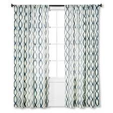 Target Threshold Window Curtains by Threshold Semi Sheer Prints Wavy Lines Curtain Panel Light
