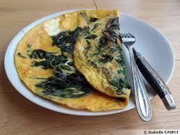 omelette aux feuilles de blette et curcuma recette de cuisine