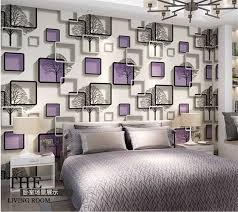 beibehang 3d quadratischen raster tapete schwarz und weiß zweige tapete schlafzimmer wohnzimmer tv wand blau lila tapete rolle