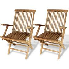 VidaXL Teak Garden Chairs 2 Pcs 21.7