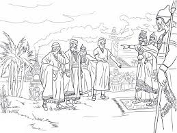 Shadrach Meshach And Abednego Before King Nebuchadnezzar Colouring Page