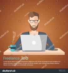 Freelance Job Vector Illustration Man Working Stock Vector ... 100 Home Graphic Design Jobs Office Beautiful Cporate From Glamorous Wonderful What Ive Learned About Settling The Startup Medium Freelance Set Various Cartoon Character Stock Vector Real Work Job Leads To Escape The 9to5 Grind Bookmarks Man Woman Working Talking Living Room 5906191 Interior Awesome Well Can How And Why You Need Start Freelancing While You Are Still Mannahattaus Programmer Coder Dude