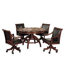 100 Wood Gaming Chair Hillsdale Furniture Palm Springs Cherry 5Piece Table And