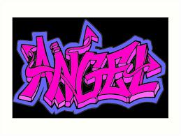 Graffiti Angel Word Art Prints By Luna Snaps