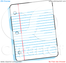 Piece of Notebook Paper Clipart 32