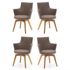 venjakob sessel alexia 2442 15cu 4er set armlehnenstuhl mit bezug in stoff rom und gestell in wildeiche geölt massivholz schale mit