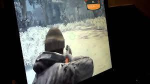 My dad killing the cougar on cabelas big game hunter 2009