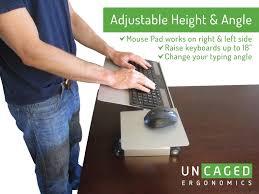 uncaged ergonomics wektb workez keyboard tray mouse pad