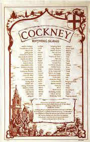 Cockney Rhyming Slang Cotton Tea Towel
