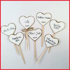 Wedding Cupcake Decorations 29681 Rustic Heart Toppers For Weddings And Bridal Showers