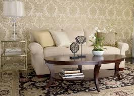 Ethan Allen Bennett Sofa by Adler Oval Coffee Table Ethan Allen