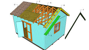 Slant Roof Shed Plans Free by How To Build A Roof For A 12x16 Shed Howtospecialist How To