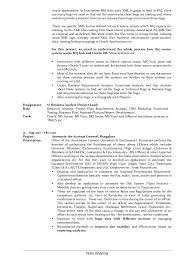 Resume Examples For A Business Analyst Fruityidea