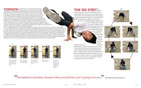 This Project Involved Choosing A How To Topic And Then Creating 4 Page Spread I Chose The Of Breakdance Created Tutorial With Custom