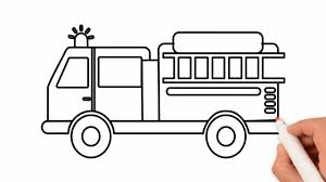 100 How To Draw A Fire Truck For Kids To Coloring Pages Ing For Kids Rainbow
