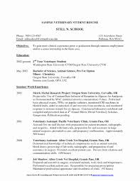 X Ray Tech Resumes New Veterinary Assistant Resume Examples Vet For